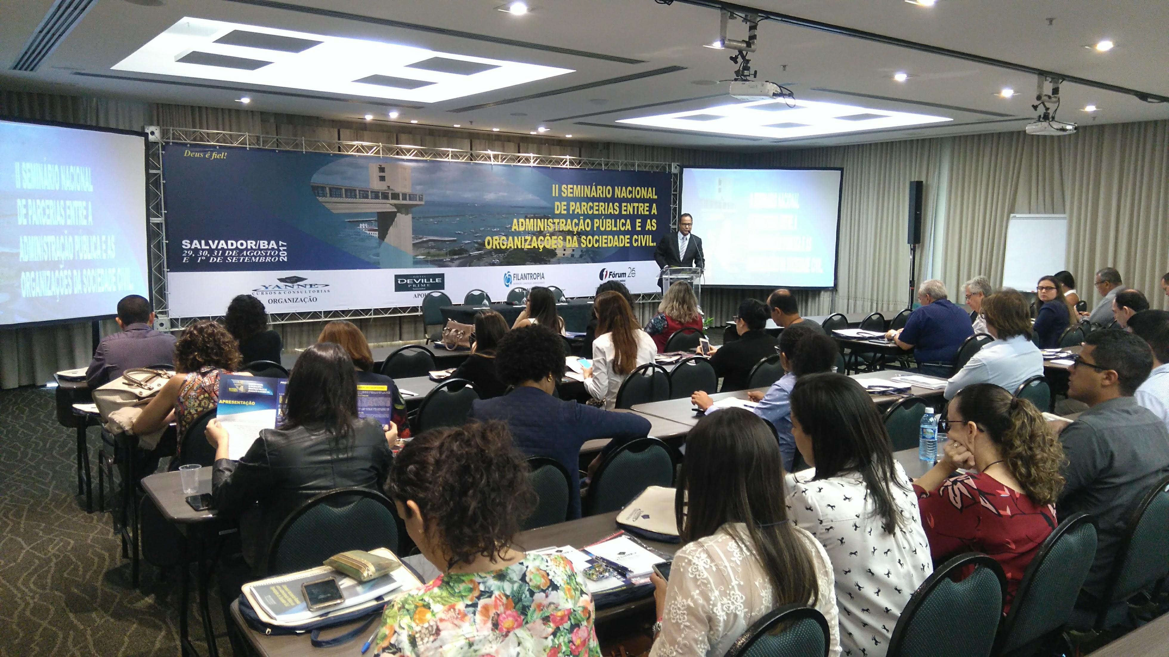II SEMINÁRIO NACIONAL DE PARCEIRAS (REALIZADO EM SALVADOR/BA, EM AGOSTO DE 2017)